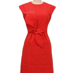 Ted Baker Ppollyd Cap Sleeve Structured Bow Dress